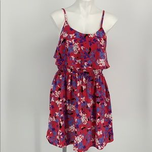 Elle Floral Spaghetti Strap Dress Size Medium